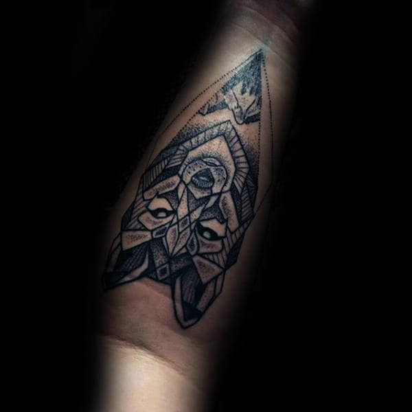 20 Geometric Wolf Forearm Tattoos Ideas And Designs