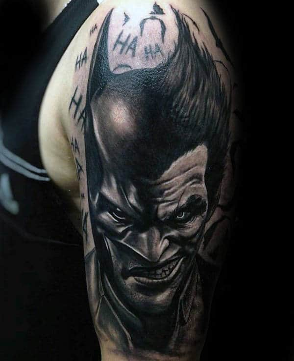 Batman Joker Tattoo : batman, joker, tattoo, Joker, Tattoo, Ideas, [2020, Inspiration, Guide]