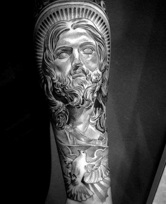 Jesus Sleeve Tattoos Gallery