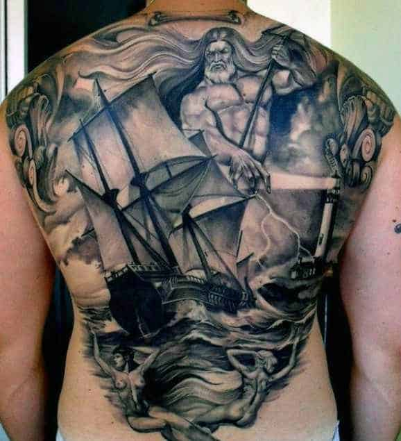 60 Greek Tattoos For Men Mythology And Ancient Gods