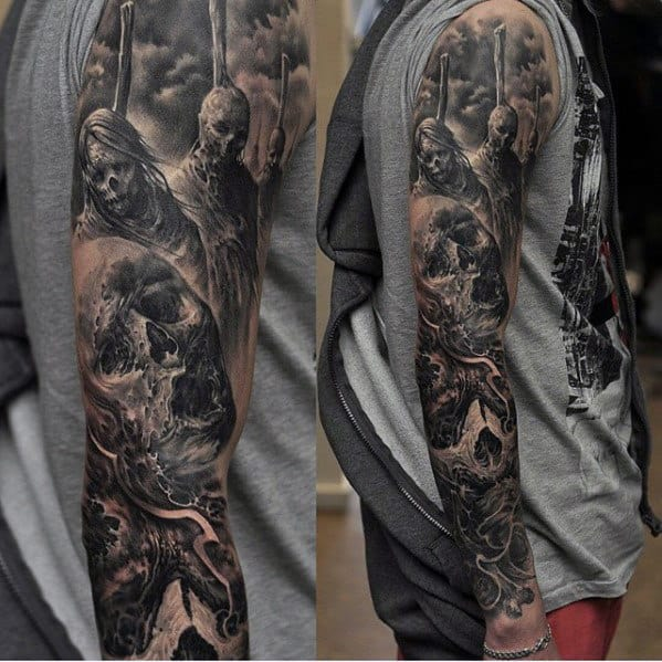 Manly Sleeve Tattoos For Men