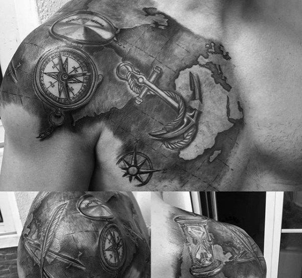 20 Unique Compass Tattoos Guys Ideas And Designs