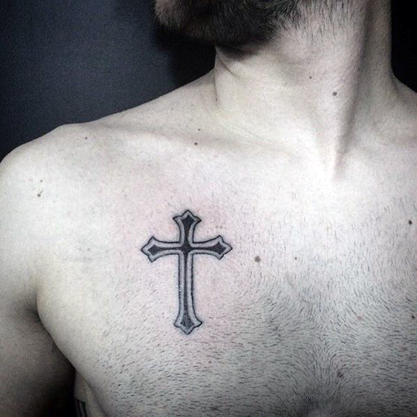 20 Biblical Tattoos Crosses For Men On Chest Ideas And Designs