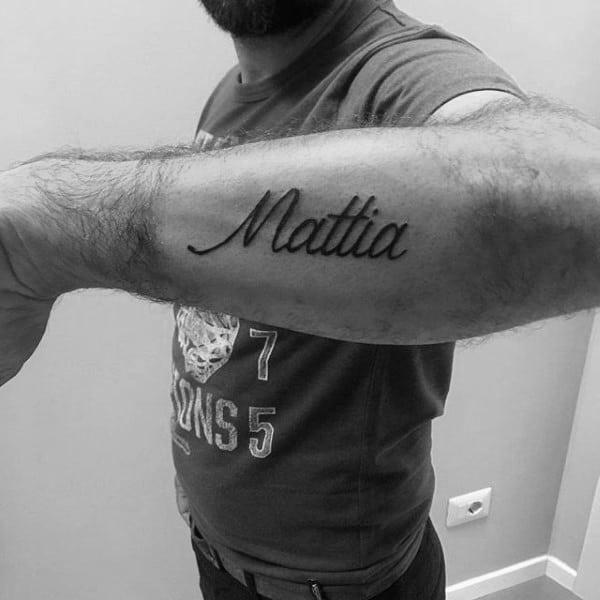 tattoos men - lettering