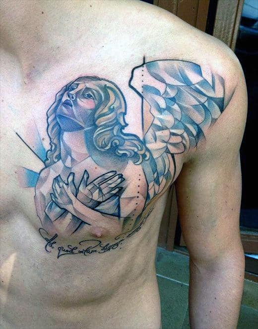 Half Chest Tattoo : chest, tattoo, Men's, Chest, Tattoo, Ideas, [2021, Inspiration, Guide]