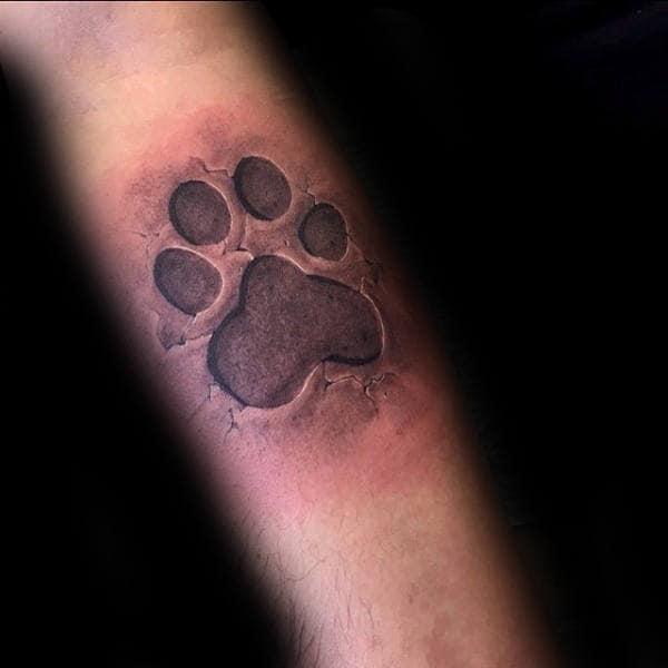 70 dog paw tattoo