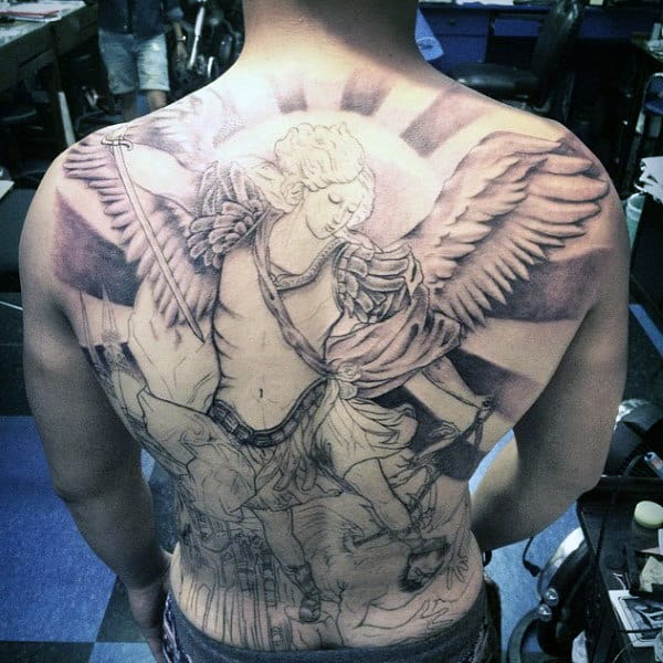 Men Tattoos Arms Angel