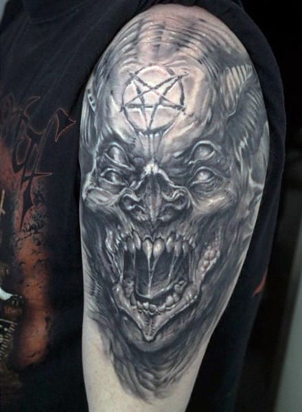 demon tattoos men - devilish