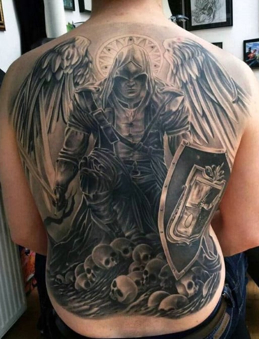 Guardian Angel Tattoos : guardian, angel, tattoos, Guardian, Angel, Tattoo, Ideas, [2021, Inspiration, Guide]