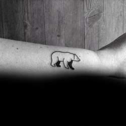 simple cool tattoo bear tattoos polar mens outline forearm ink side masculine pride tweet