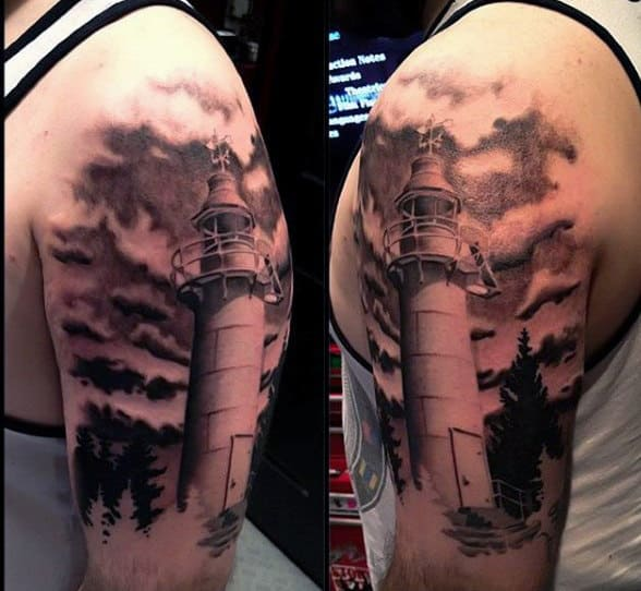 lighthouse tattoo design