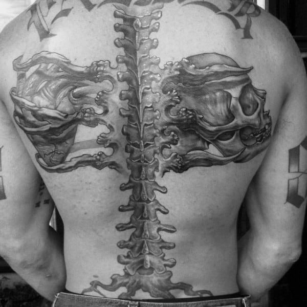 spine tattoos men - masculine