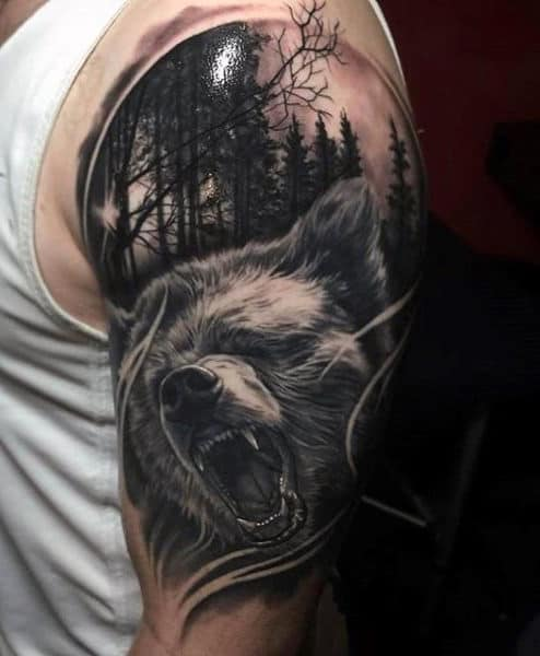bear tattoo design men