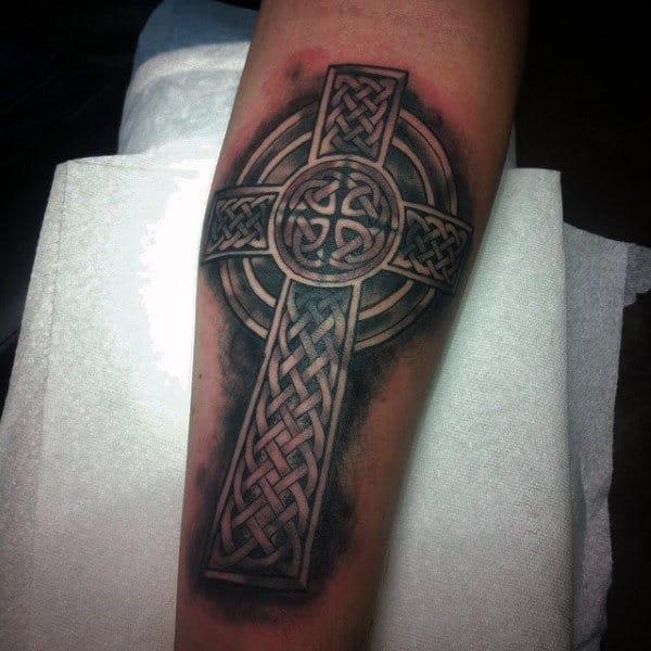 celtic cross tattoos men