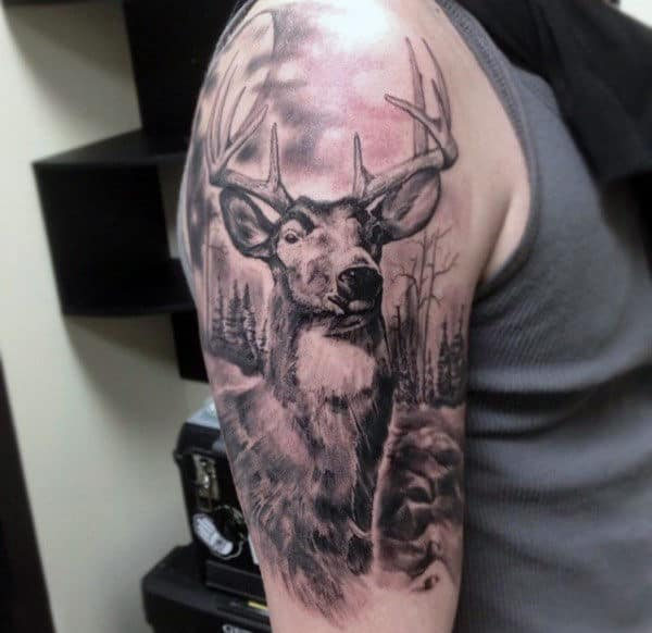 Standing Man Traditional Tattoo
