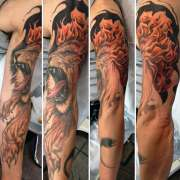 flame tattoos men