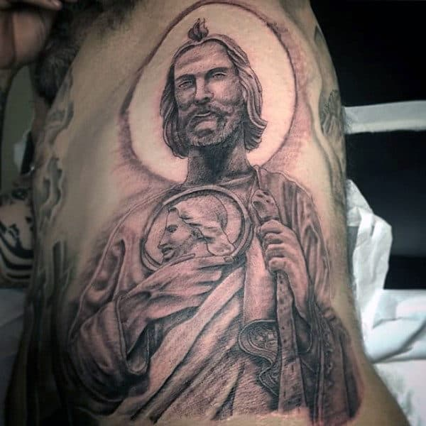 San Judas Tadeo Tattoo Color