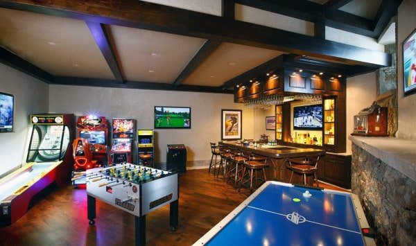 Check out this article and get 10 amazing game room ideas and more. 60 Game Room Ideas For Men - Cool Home Entertainment Designs