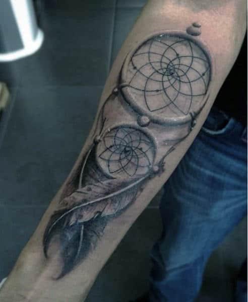 Dream Catcher Forearm Tattoo : dream, catcher, forearm, tattoo, Dreamcatcher, Tattoos, Divine, Design, Ideas