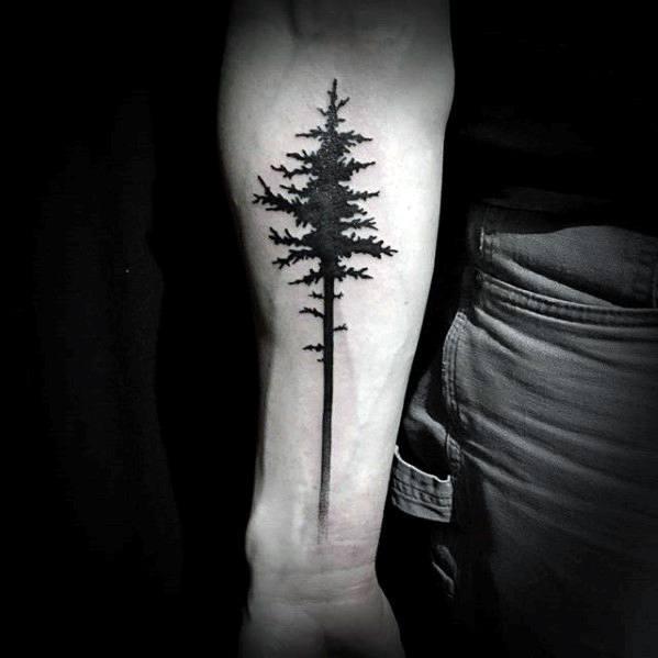 simple forearm tattoos guys