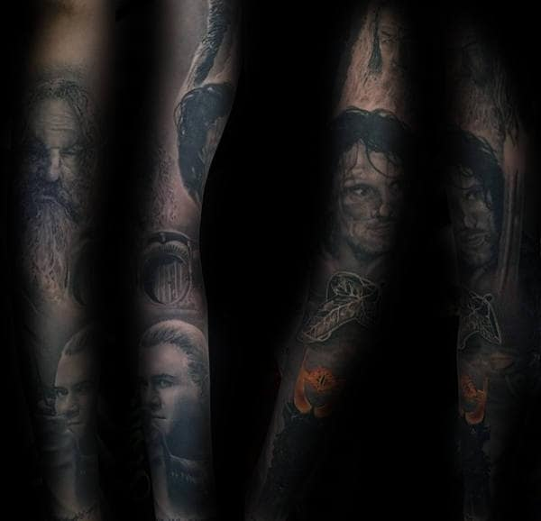 Rings Sleeve Lord Tattoo Full