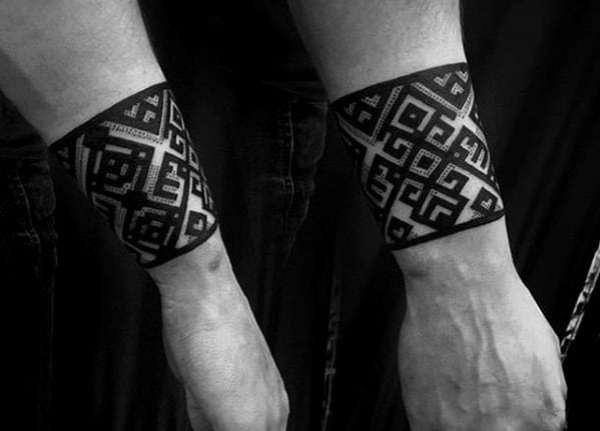 forearm band tattoos men