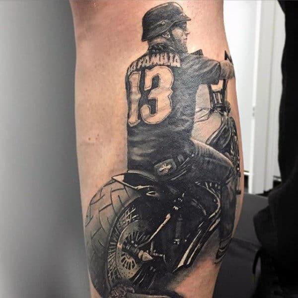 biker tattoos men - manly