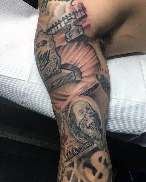 Hood Money Bag Tattoo : money, tattoo, Sleeve, Tattoo, Money, Ideas
