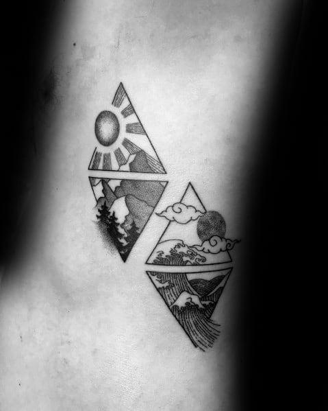 Wave And Mountain Tattoo : mountain, tattoo, Mountain, Tattoo, Ideas, Nature, Designs