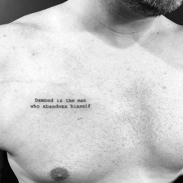 Small Chest Tattoo Men