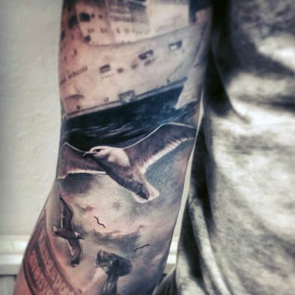 40 Seagull Tattoo Designs For Men  Seabird Ink Ideas