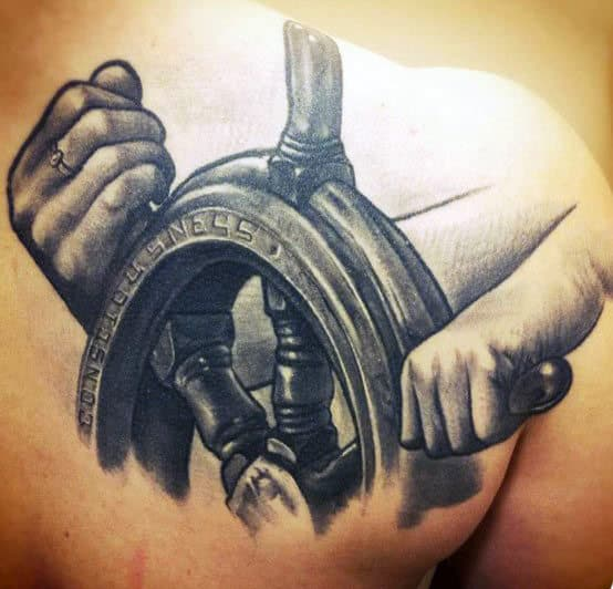 Anchor And Steering Wheel Tattoo Meaning