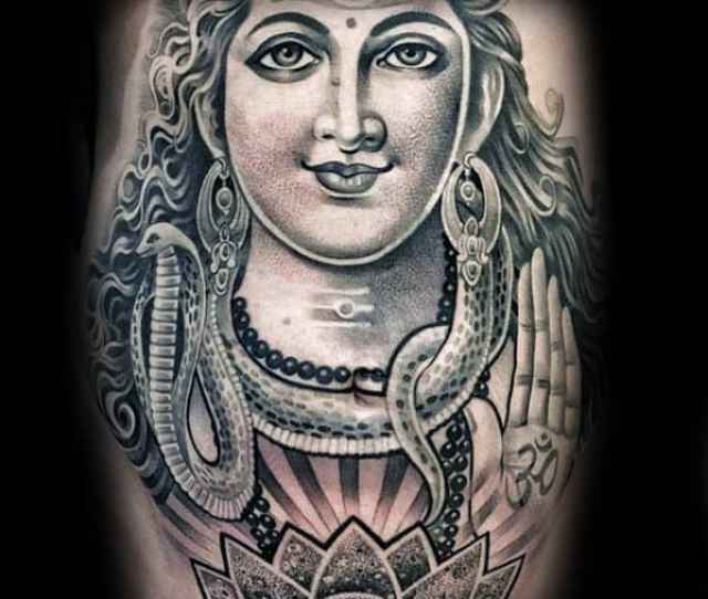 Mens Shiva 3d Tattoo Design Ideas