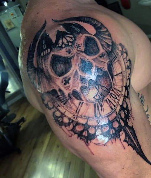 Melting Skulls Tattoo