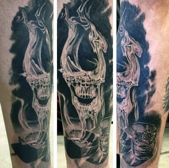 Men's Smoke Tattoo Designs