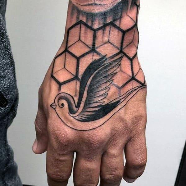 traditional bird tattoo design