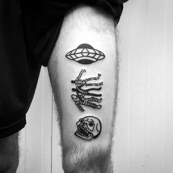 simple skull tattoos men