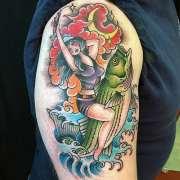 bass tattoo design men