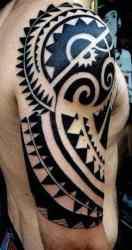 tribal tattoos arm mens symbols courage tweet