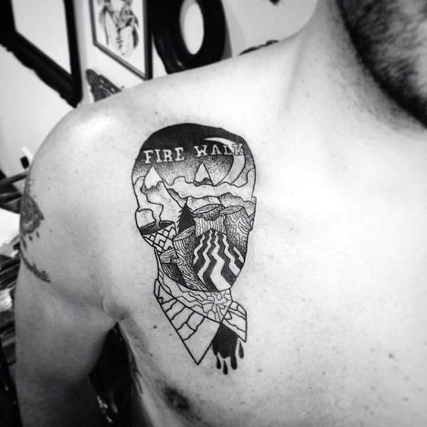 40 Twin Peaks Tattoo Designs For Men TV Ink Ideas