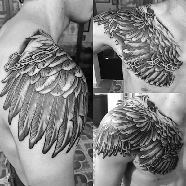 20 Broken Angel Wing Tattoos For Men Ideas And Designs