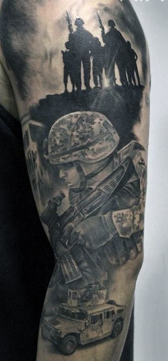 Soldier Tattoo Sleeve