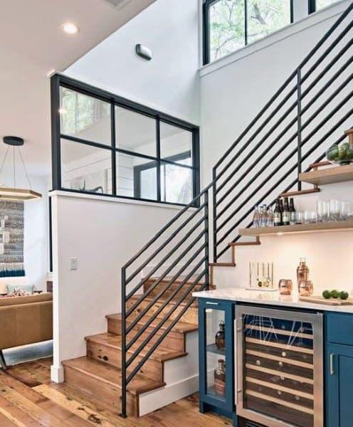 Top 70 Best Home Mini Bar Ideas Cool Beverage Storage Spots   Mini Bar Under Stairs Design   Stairs Cupboard   Escaleras   Interior Design   Basement Stairs   Stair Storage