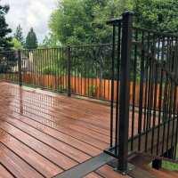 Top 50 Best Metal Deck Railing Ideas   Backyard Designs