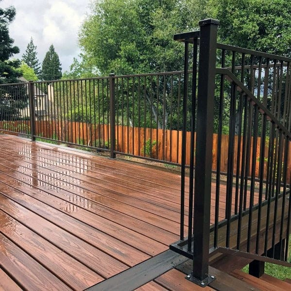 Top 50 Best Metal Deck Railing Ideas Backyard Designs