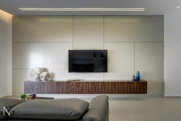 living room package with tv colour ideas 2016 uk top 70 best wall television designs modern free floating wood stand interior walls