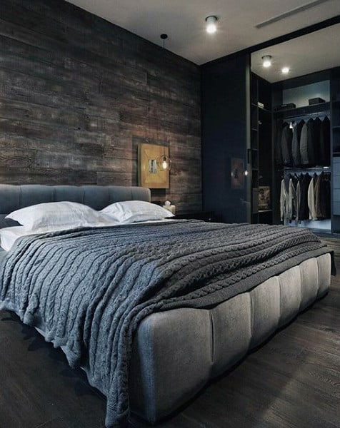 80 Bachelor Pad Men's Bedroom Ideas