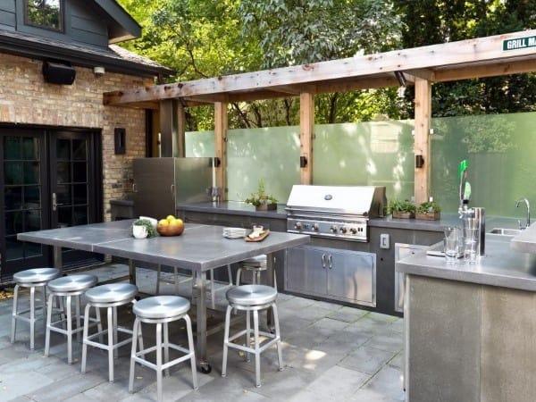 outdoor kitchens ideas kitchen armoire top 60 best chef inspired backyard designs modern