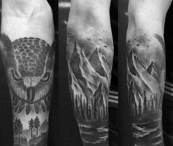 1939639c7 25+ Landscape Tattoo Owl Pictures and Ideas on Pro Landscape