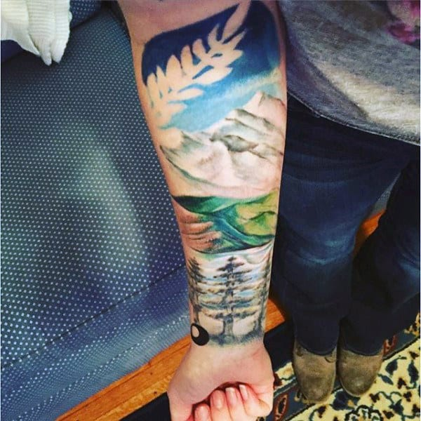 Forearm Nature Tattoos Half Sleeve